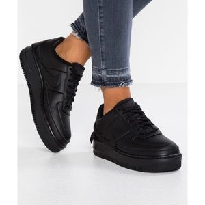 NIKE air force 1 jester black athletic sneakers 6